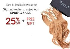 Clip in extensions   Clip in hair extensions   Real hair   Irresistible Me
