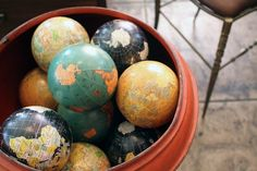 A collection of small Globes - wish I could find a bunch of these!