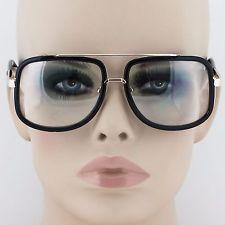 f72dfc76e50 Mens CLASSIC VINTAGE RETRO Aviator Style Clear Lens EYE GLASSES Fashion  Frame