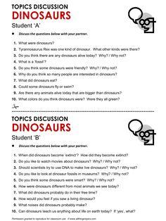 Dinosaurs, English, Learning English, Vocabulary, ESL, English Phrases, http://www.allthingstopics.com/dinosaurs.html