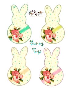 Printable gift tags free shabby bunny tags bunny shabby and gift displaying bunny tags by glendaglendas worldg negle Image collections