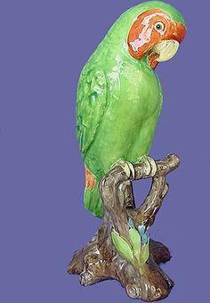 Spode Copeland Lovebird Figurine from England by ANTIQUE BEAK a Ruby Lane Shop