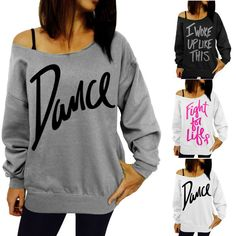 Womens Hip Hop Sweatshirt Pullover Hoodies Jumpers Top Sports Clothing Blouse #Unbranded #Blouse #Casual