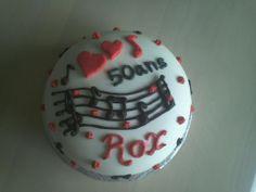 Gâteau 50 ème anniversaire pour une amoureuse de la musique