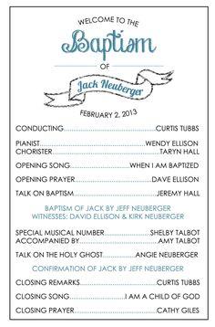 lds baptism program - Google Search    www.MormonLink.com  #LDS #Mormon #SpreadtheGospel