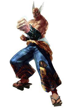 Heihachi Mishima (三島 平八, Mishima Heihachi) is a fictional Japanese character in the Tekken fighting game series. He is one of only four characters (the. Party Characters, Comic Book Characters, Samurai Warriors Anime, Tekken Wallpaper, Soul Calibur 2, Game Character, Character Design, Character Concept, Concept Art