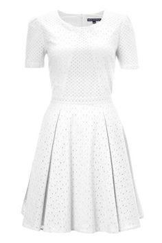 Floral Flirtation white eyelet dress -  French Connection