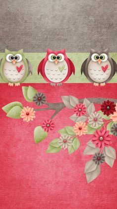 funny owls wallpaper by georgekev - - Free on ZEDGE™ Cute Owls Wallpaper, Bird Wallpaper, Wallpaper Backgrounds, Cellphone Wallpaper, Iphone Wallpaper, Creation Bougie, Owl Background, Pattern Background, Funny Owls
