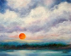 Painting Landscape Moon Canvas Wall Art by MarinaPetroFineArt https://www.etsy.com/listing/499754147/painting-landscape-moon-canvas-wall-art?ref=shop_home_active_1