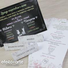 Papelaria para Casamento. Orçamentos e pedidos pelo e-mail contato@efeitoearte.com.br