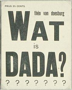 Portada del libro '¿Qué es dada', 1923. Constructivismo , Dadaísmo - Theo van Doesburg