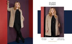 Toni Plus Fall 2017 Look Book Plus Size Designer Fashion  Eileen Fisher www.toniplus.com