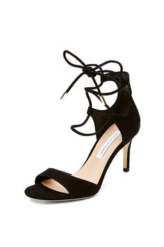 The Rimini heel is delicate with an edge, featuring a mid heel and lace up front…