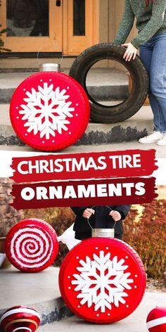 Diy Christmas Yard Art, Easy To Make Christmas Ornaments, Diy Christmas Yard Decorations, Old Time Christmas, Christmas Events, Christmas Crafts For Gifts, Simple Christmas, Christmas Ideas, Diy Xmas Projects