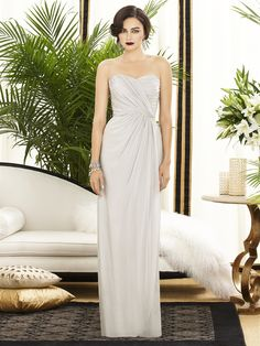 I love this style even more! And the pale oyster color is such a delicate offset from the stark white wedding dress.