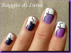 Raggio di Luna Nails: Purple baloons manicure
