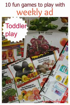 Fun and Educational games to play with weekly ads with toddlers! No set up required.