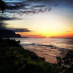 Sunset. #Kauai, #Hawaii, #Flowkane, #Travel