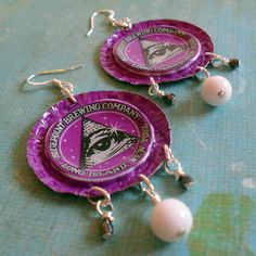 Awesome earrings: Blue Point Brewing Company Earrings by EssoBee on Etsy, $12.00