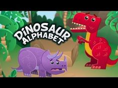 Dinosaur Alphabet Song - Kids learn the ABCs with T-Rex and other fun dinosaurs. T-Rex does tear up a bit but my nephews 1 and 2 don& notice and they love it! Dinosaur Theme Preschool, Dinosaur Alphabet, Dinosaur Activities, Dinosaur Crafts, Preschool Songs, Alphabet Activities, Preschool Learning, Early Learning, Preschool Activities
