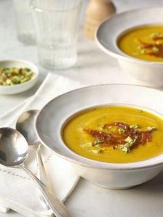 CookingDistrict.com - Featured Recipe - Butternut Squash Soup With Pumpkin Butter Recipe