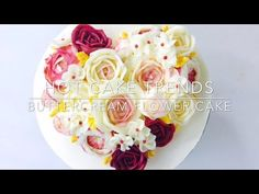 Valentine's Day buttercream flower cake - How to make by Olga Zaytseva / CAKE TRENDS 2017 #3 - YouTube