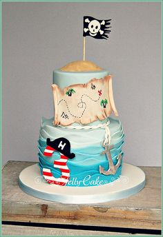 Pirate Birthday Cake by Trudy MItchell