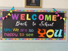 Welcome Door Classroom, School Welcome Bulletin Boards, Elementary Bulletin Boards, Bulletin Board Design, Teacher Bulletin Boards, Bulletin Board Borders, Welcome Back To School, Elementary Schools, School Entrance