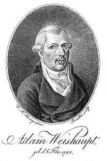 Johann Adam Weishaupt (6 February 1748 – 18 November 1830) was a German philosopher and founder of the Order of Illuminati, a secret society...