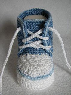 Baby-Sneaker häkeln ► DIY Baby-Schuhe häkeln