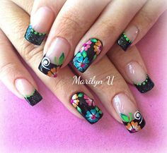 Mani Pedi, Manicure And Pedicure, Mexican Nails, Mexican Colors, Modern Nails, Gorgeous Nails, French Nails, Nail Trends, Spring Nails