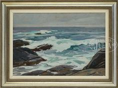 """Breaking Waves,"" Aldro T. Hibbard, oil on canvas board, 17-1/2 x 25-1/2"", private collection."