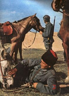 Cossacks collaborators in the service of the Wehrmacht early 1942