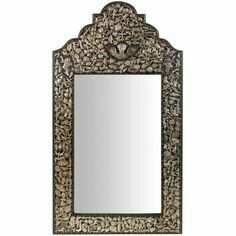 Our exquisite, highly detailed Milagro mirror will be the center of attention in any room of your home! The wooden frame is hand painted and adorned with over two hundred authentic. Mexican Folk Art, Mexican Style, Memento Mori, New Mexico Style, Spanish Tile, Spanish Colonial, Room Accessories, Color Pallets, Inspired Homes