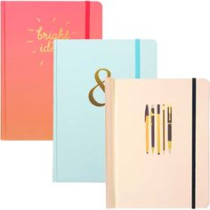 JAM Paper® Design Notebooks feature a hard cover and an elastic closure to keep your pages safe! Each notebook is packed with 160 lined pages for all your writing needs! #jampaper