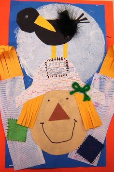 Cute fall art lesson. Perfect for a scarecrow theme.