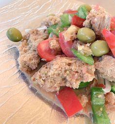"""Pan payés tomate pimiento verde olivas... una versión actualizada de """"Crostes de #Ibiza"""". #IbizaSabor17 #gastronomia"""