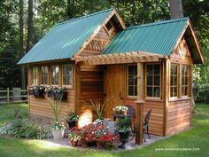 16 modelos de casitas de madera para el jardín.