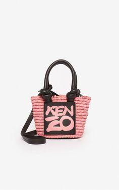 Kopakabana small basket | Kenzo Bohemian Look, Leather Handle, Kenzo, Shoulder Strap, Pouch, Basket, Bags, Handbags, Sachets