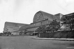 Palace Exterior  circa 1888:  The south-east corner of the Crystal Palace after it was dismantled and moved from the Great Exhibition site to Sydenham in south London.  (Photo by London Stereoscopic Company/Getty Images).