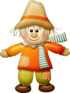"Photo from album ""Falltastic"" on Yandex. Make A Scarecrow, Halloween Scarecrow, Fall Halloween, Rock Crafts, Fall Crafts, Crafts For Kids, Halloween Clipart, Halloween Cards, Crochet Slippers"