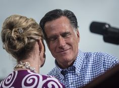 223 Romney campaigns in Florida Oct., 2012 Mitt and Ann Romney hug before leaving the stage at a rally in Port St. Melina Ma ra / The Washington Post Visit North Carolina, Dynamic Duos, Presidential Nominees, The Washington Post, Campaign, Florida, Rally, Hug
