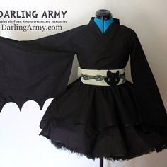 Toothless How to Train Your Dragon Kimono Dress Wa Lolita Skirt Accessory | Darling Army