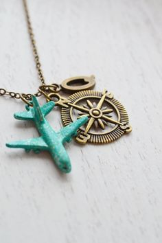 personalized necklace,airplane necklace,aviation,pray for the plane,flight attendant,travel,long distance relationship,direction necklace,bon voyage,christmas gift,plane,aircraft,graduation gift