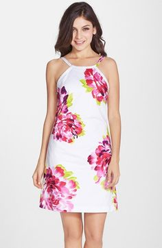 Trina+Turk+'Patsy'+Floral+Print+A-Line+Dress+available+at+#Nordstrom