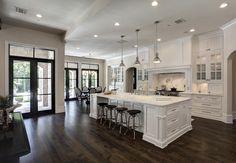 White Kitchen w/Medium-Dark Wood Floors