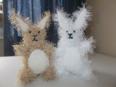 Little rabbits made from King Cole chunky pattern.