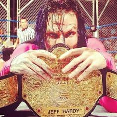 Jeff Hardy with his championship belt - wwe & wwf News Wwe Jeff Hardy, Wrestling Posters, Wrestling Videos, Wrestling Wwe, The Hardy Boyz, Eddie Guerrero, Wrestling Superstars, Creatures Of The Night, Happy Puppy
