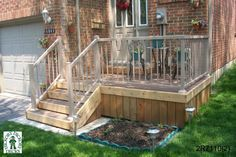 Best Small deck designs ideas that you can make at home! small deck ideas on a budget, small deck ideas decorating, small deck ideas porch design, small deck ideas with stairs Front Porch Stairs, Front Deck, House Front, Deck Building Plans, Deck Plans, Deck Ideas Townhouse, Patio Gazebo, Backyard, Small Deck Ideas On A Budget