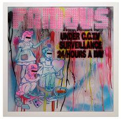 Ben Eine, Famous, 2008. More here: http://www.blackbookgallery.com/artists/ben-eine/